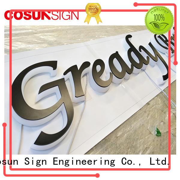 COSUN led base pedestal sign holder Supply for restaurant