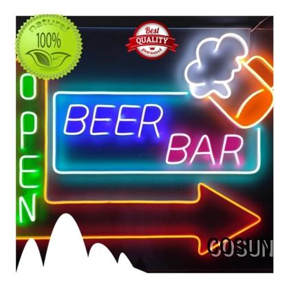 COSUN on-sale channel letters factory for restaurant