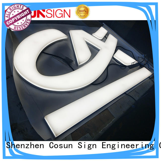 New acrylic plastic signage clear letter inquire now