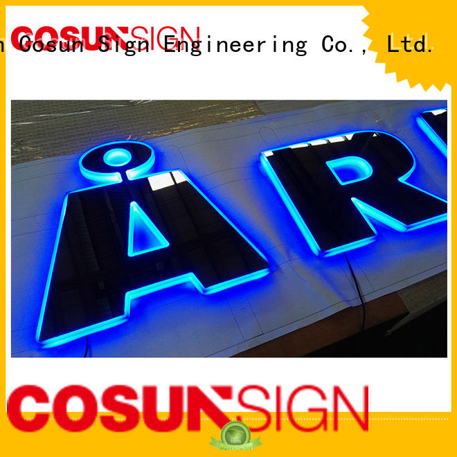 Best laser engraved acrylic signs led base for pub club