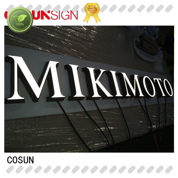 COSUN led base illuminati sign factory for restaurant