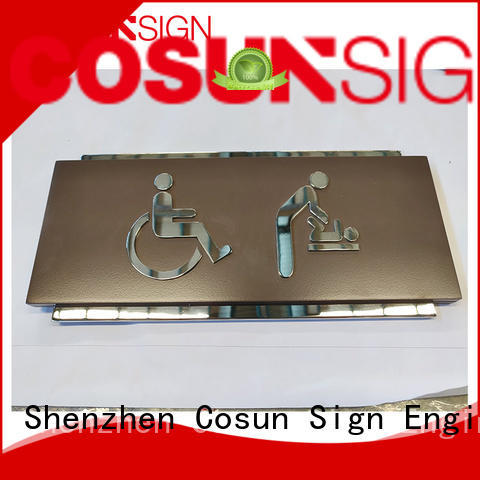 COSUN etched custom made wooden door signs factory for wholesale