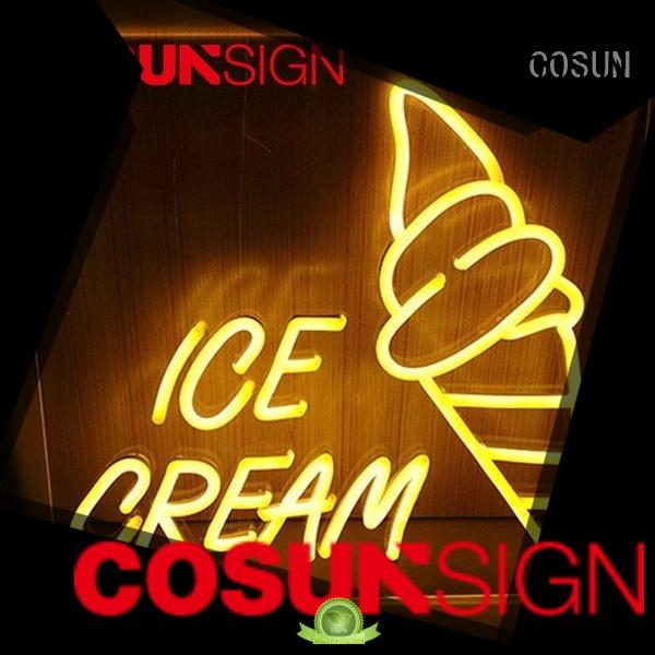 COSUN on-sale glass neon sign Supply for restaurant