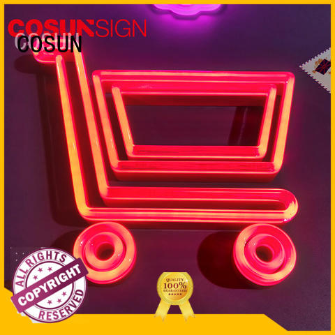 COSUN hot-sale personalized neon bar signs company for restaurant
