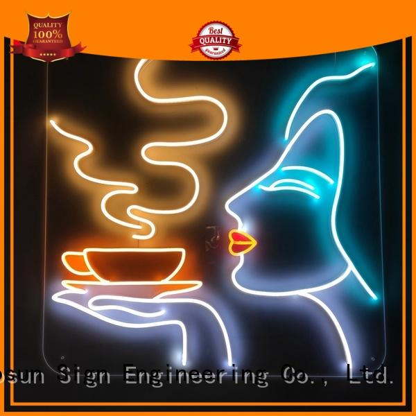COSUN hot-sale the neon sign store factory for restaurant
