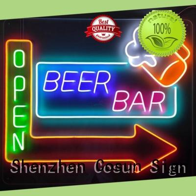 COSUN on-sale neon sign font factory for promotion