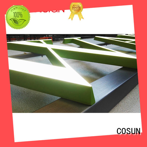 COSUN cheapest price acrylic sign covers Supply for pub club