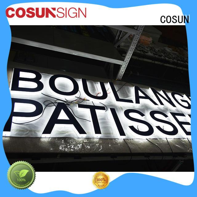 COSUN clear letter floor standing sign holder for restaurant