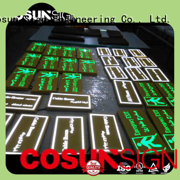 COSUN customized logo house number plate safety sign