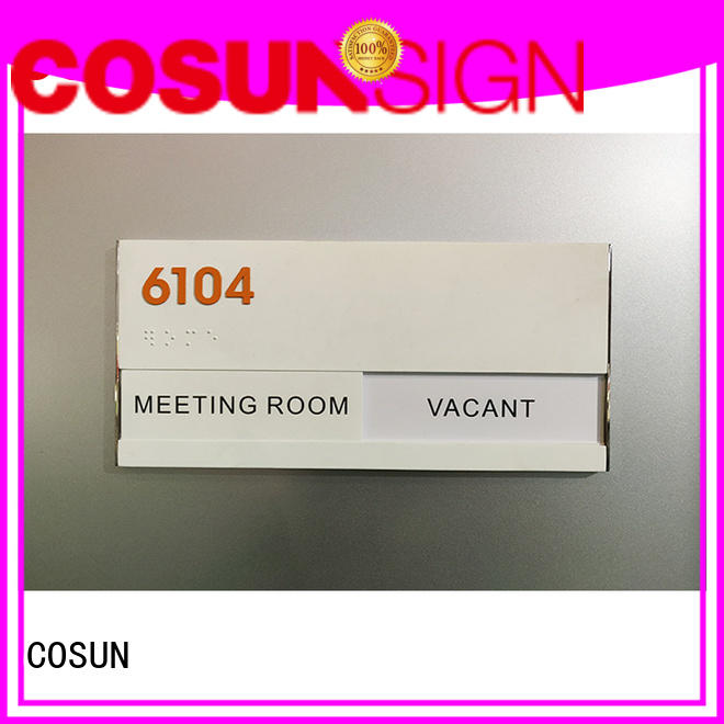 COSUN cnc aluminum professional office signs Supply house decoration