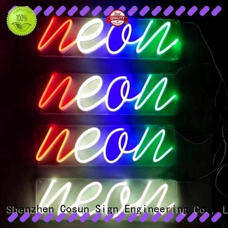 COSUN High-quality where to find neon signs company for decoration