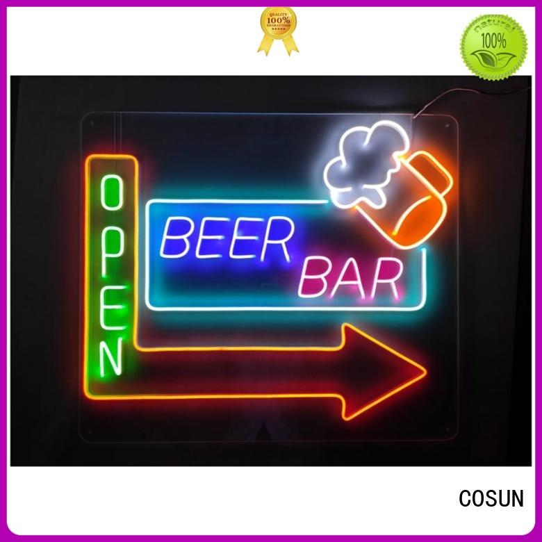 COSUN eye-catching neon sign supplies for business