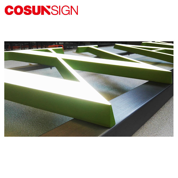 COSUN clear letter perspex plaque for restaurant-1