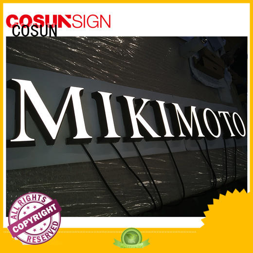 COSUN clear letter plastic table signs company inquire now