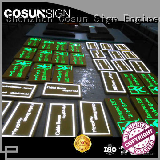 cnc aluminum hotel room number plates buy now for bar COSUN