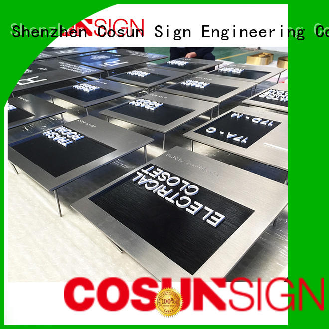 COSUN Custom sliding office signs manufacturers for door
