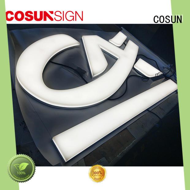 COSUN Custom acrylic placard wholesale inquire now