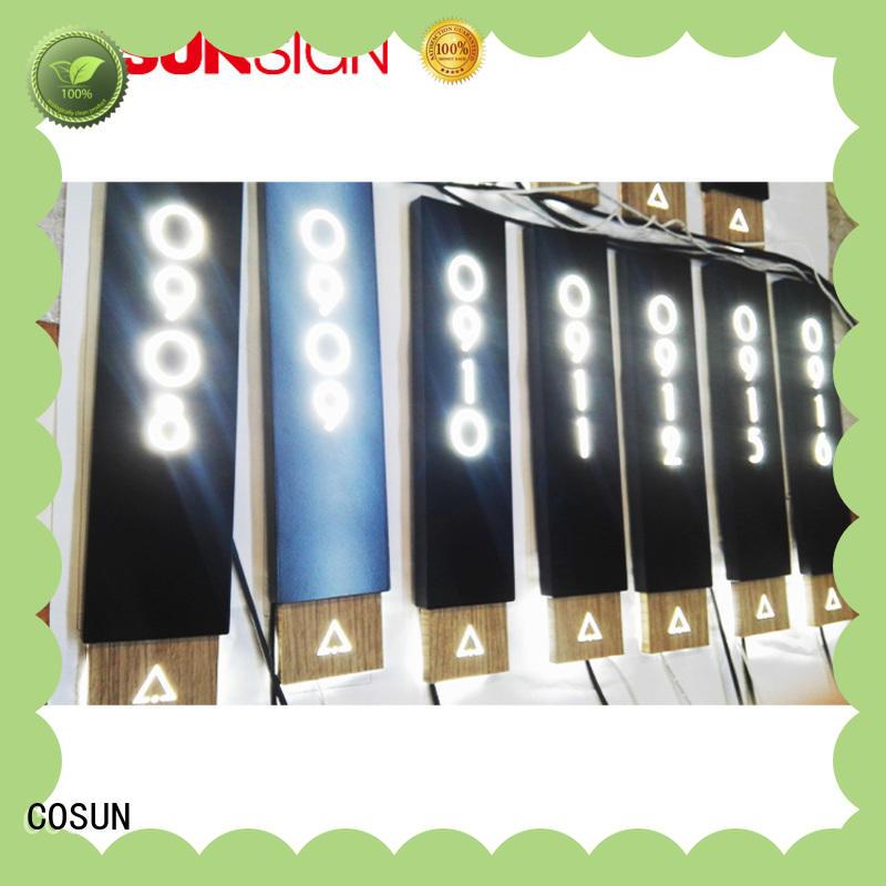 polishing door signage laser cutting for decoration