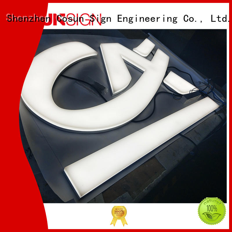 COSUN clear letter signs and lucite inquire now