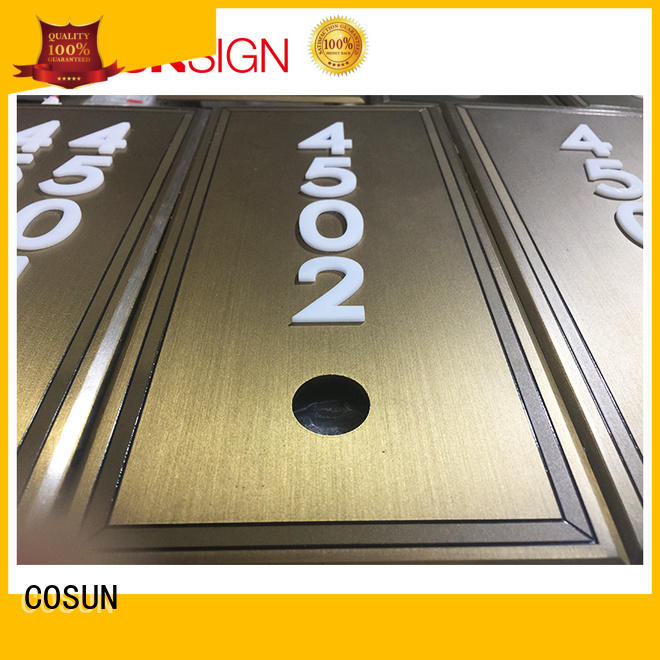 Cosun Brass Custom Logo Door Number Plates
