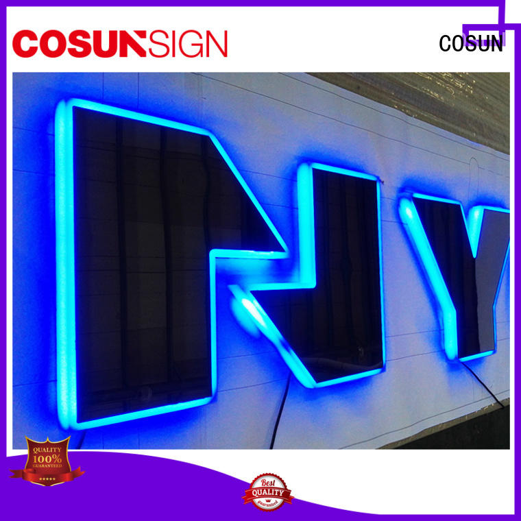 COSUN Top hard plastic sign holder new for shop