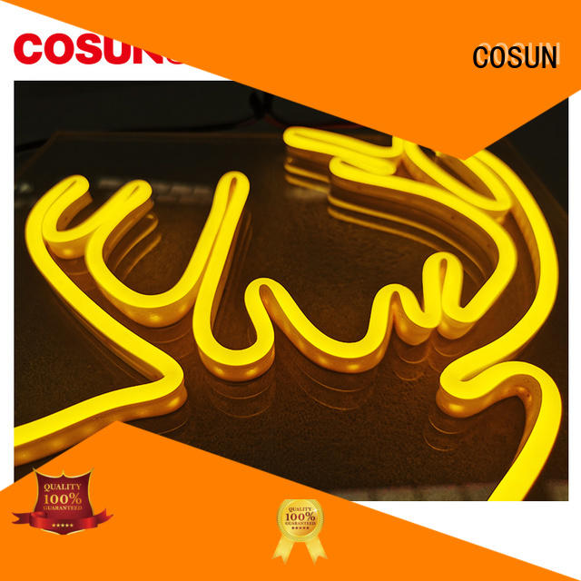 COSUN New custom neon bar signs manufacturers for warning