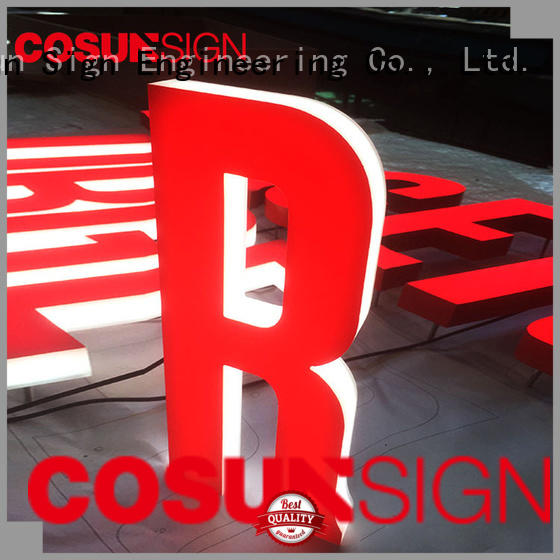 COSUN led base acrylic desk sign holder for business for pub club