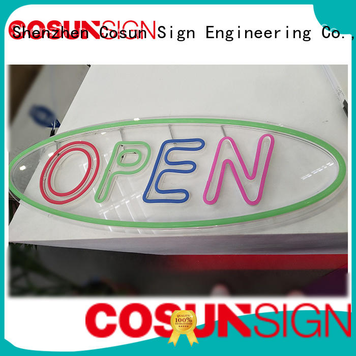 COSUN Custom neon sign manufacturers for hotel