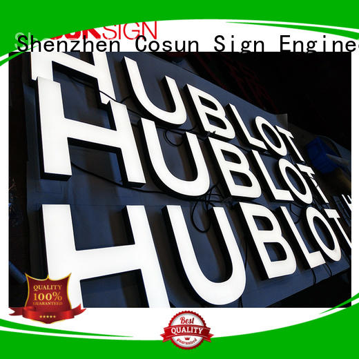COSUN cheapest price outdoor sign printing factory for restaurant