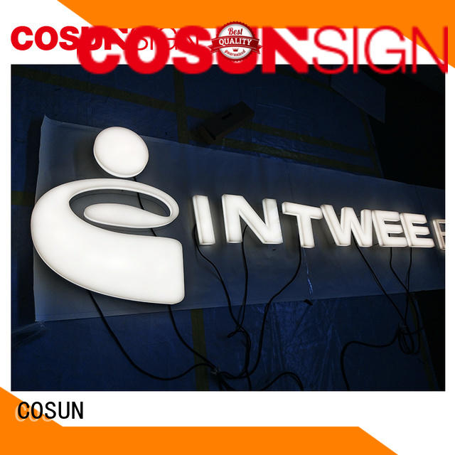 COSUN plastic custom engraved acrylic signs for shop