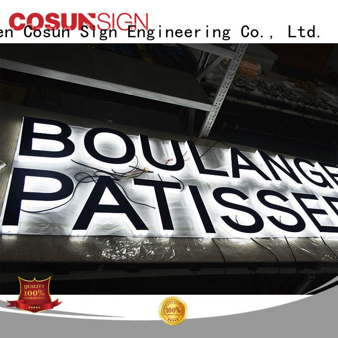 COSUN clear letter pos sign holder at discount for restaurant