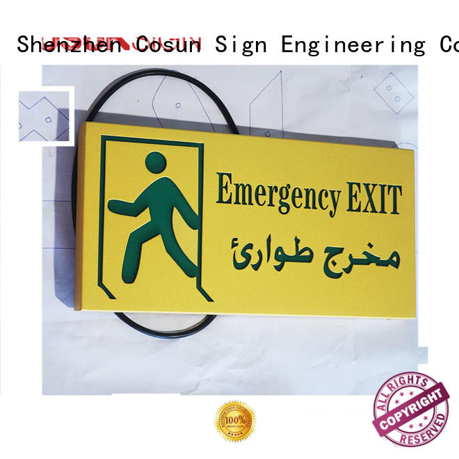 High-quality illuminated outdoor signs acrylic Suppliers for toilet signage